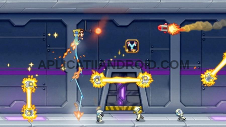 Jetpack Joyride, un joc offline Android care se joacă fără net.