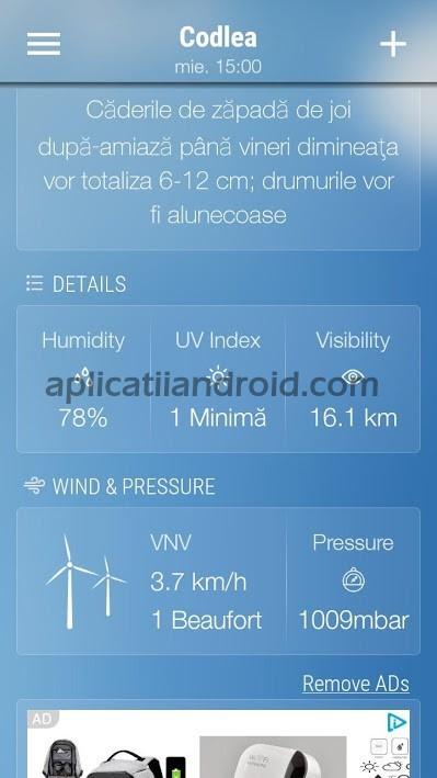 Weather Forecast, vremea pe ecran Romania