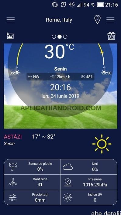 aplicatie meteo android