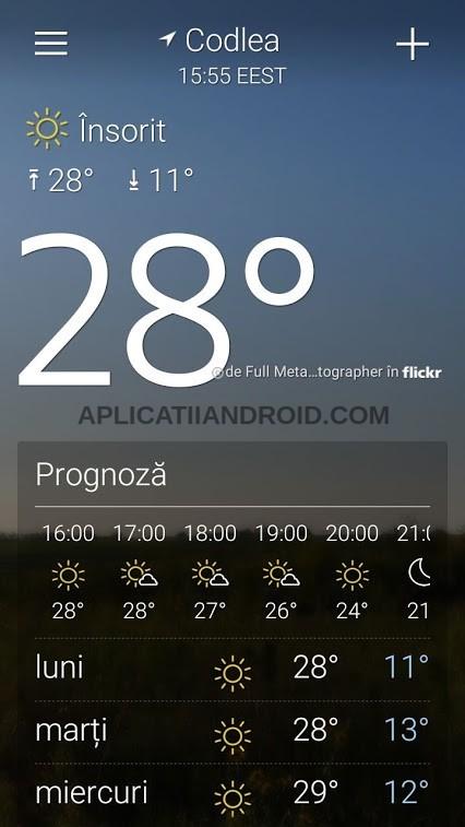 aplicatie meteo romania