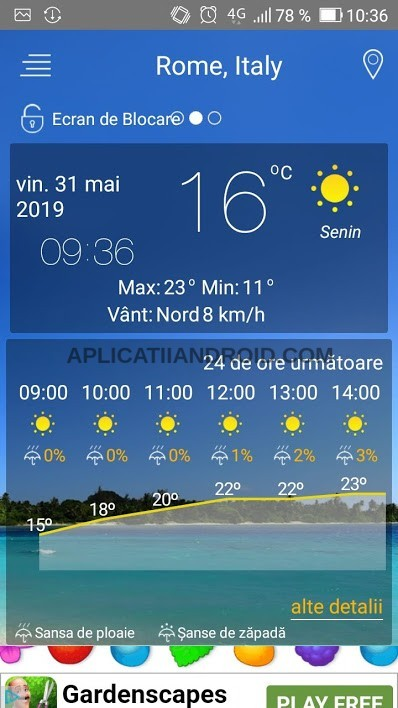 aplicatie prognoza meteo vreme telefon android