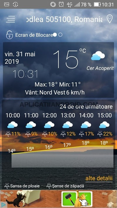 aplicatii meteo android