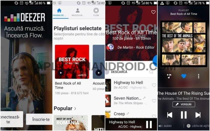 Deezer Music, aplicație pentru muzică telefon Android