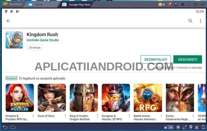 Bluestacks, instalare jocuri Android pe PC sau laptop Windows
