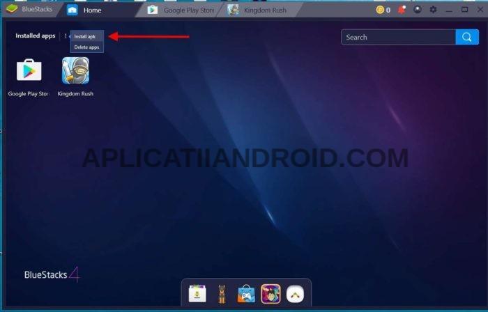 Instalare aplicații apk pe PC sau laptop Windows cu Bluestacks