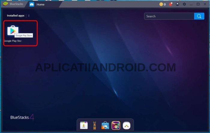 Instalare aplicatii Magazin Play pe PC sau laptop cu Bluestacks
