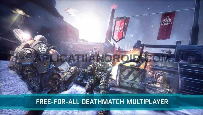 Shadowgun DeadZone cele mai bune jocuri multiplayer online cu impuscaturi pentru Android.