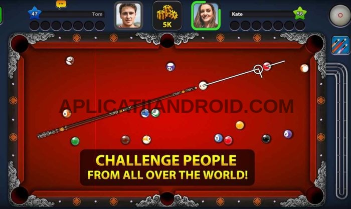 Biliard online multiplayer Android