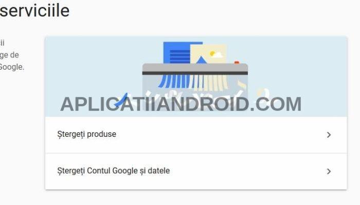 cum se sterge definitiv un cont google